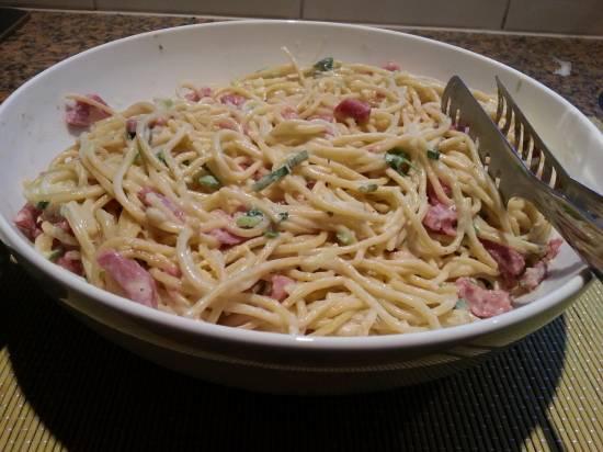 Spaghetti Carbonara, lekkers !!