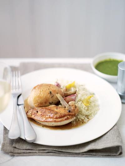 Geroosterde kip met salsa en verde